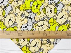 Кулирка 100% хб, желтые мишки - фото 12654
