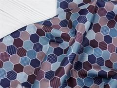 Подкладочная ткань синие соты