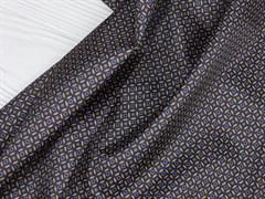 Подкладочная ткань Коричневый орнамент