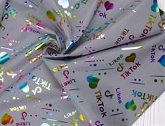 Светоотражающая плащевая ткань, Тик Ток - фото 12704