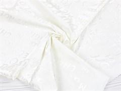 Плащевая ткань Буквы 3D, белый - фото 12723