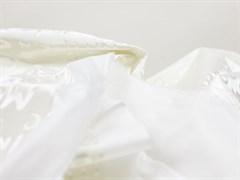 Плащевая ткань Буквы 3D, белый - фото 12727