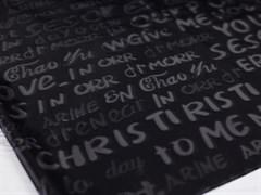 Плащевая ткань Буквы 3D, черный - фото 12738