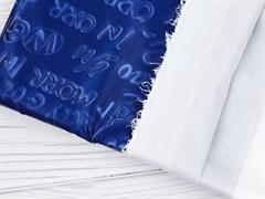 Плащевая ткань Буквы 3D, синий - фото 12742