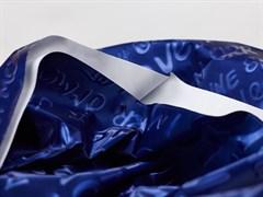Плащевая ткань Буквы 3D, синий - фото 12747