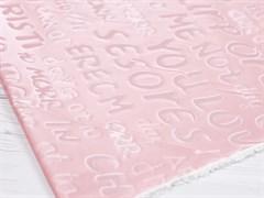 Плащевая ткань Буквы 3D, пудра - фото 12783