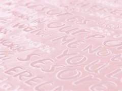 Плащевая ткань Буквы 3D, пудра - фото 12784