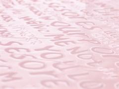 Плащевая ткань Буквы 3D, пудра - фото 12785