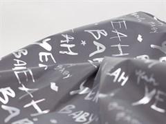 Светоотражающая плащевая ткань, буквы серебро