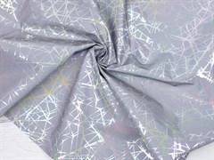 Светоотражающая плащевая ткань, паутинка серебро - фото 12803