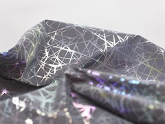 Светоотражающая плащевая ткань, паутинка серебро