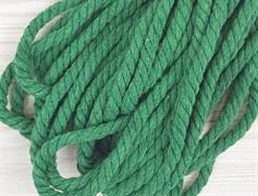 Шнур крученый, 100% хлопок, 8мм, зеленая трава