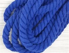 Шнур крученый, 100% хлопок, 15мм, синий