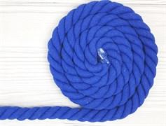 Шнур крученый, 100% хлопок, 25мм, синий - фото 12863