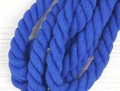 Шнур крученый, 100% хлопок, 25мм, синий - фото 12864