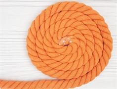 Шнур крученый, 100% хлопок, 25мм, оранжевый - фото 12865