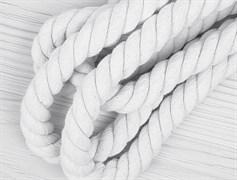 Шнур крученый, 100% хлопок, 25мм, белый