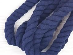 Шнур крученый, 100% хлопок, 25мм, темно-синий