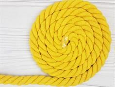Шнур крученый, 100% хлопок, 25мм, желтый - фото 12883