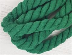Шнур крученый, 100% хлопок, 25мм, зеленая трава - фото 12886