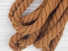 Шнур крученый, 100% хлопок, 15мм, коричневый