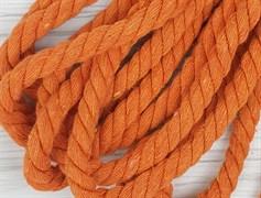 Шнур крученый, 100% хлопок, 10мм, оранжевый