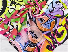 Кулирка с лайкрой Граффити - фото 12922