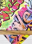 Кулирка с лайкрой Граффити - фото 12924