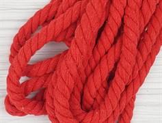 Шнур крученый, 100% хлопок, 10мм, красный