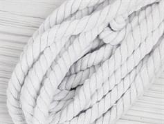 Шнур крученый, 100% хлопок, 10мм, белый