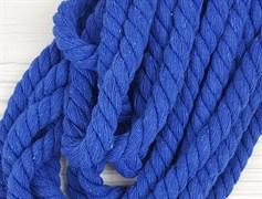 Шнур крученый, 100% хлопок, 10мм, синий
