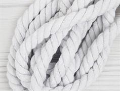 Шнур крученый, 100% хлопок, 15мм, белый