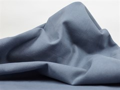 Деним с велюр эффектом, серо-голубой