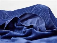 Вельвет крупный рубчик, синяя дымка - фото 13064