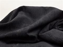 Вельвет крупный рубчик, черный