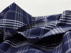 Костюмная ткань КЛЕТКА, СИНЯЯ - фото 13138
