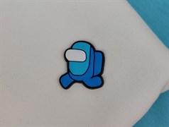 Нашивка резиновая AMONG*US, голубой