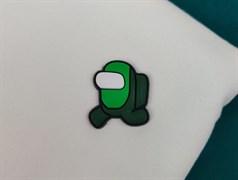 Нашивка резиновая AMONG*US, зеленый