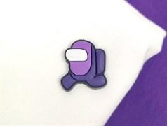 Нашивка резиновая AMONG*US, фиолетовый