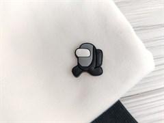 Нашивка резиновая AMONG*US, серый