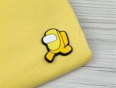 Нашивка резиновая AMONG*US, желтый