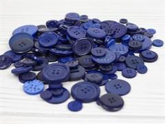 Набор пуговиц микс 300гр,  размер 1-3см, синий