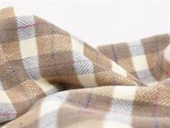 Пальтовая ткань клетка, коричневый/серый (13765/D6/С2)