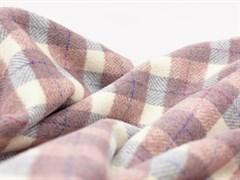 Пальтовая ткань клетка, пудра/серый (13765/D6/С1)