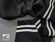 Подвяз трикотажный, ЧЕРНЫЙ + люрекс серебро - фото 5898