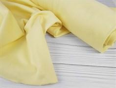 Интерлок однотонный, нежно-желтый