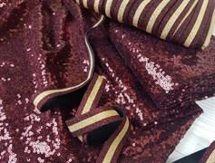 Резинка с люрексом , золото + бордо - фото 6749