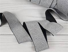 Резинка с люрексом , серебро - фото 6758