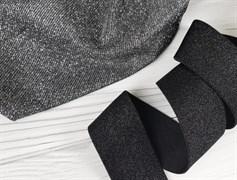 Резинка с люрексом , черный - фото 6768