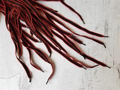 Шнурки черно-красные, 120см